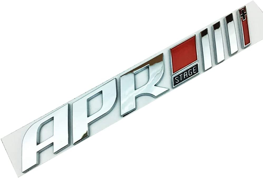 Emblem Auto Car Trunk Tailgate Rear Badge Decal Decoration Sticker Chrome APR Stage lll
