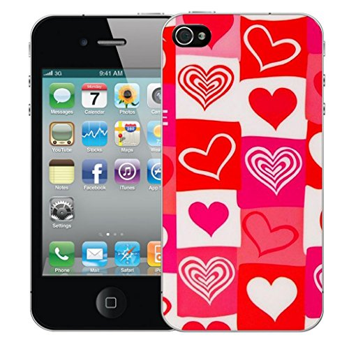 Mobile Case Mate iphone 5 5s clip on Dur Coque couverture case cover Pare-chocs - red amore Motif