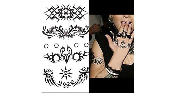 1 pc temporal 3d impermeable tatuaje adhesivo Totem patrón de ...