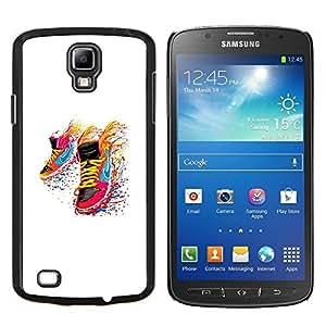 Zapatillas de deporte del arco iris- Metal de aluminio y de plástico duro Caja del teléfono - Negro - Samsung i9295 Galaxy S4 Active / i537 (NOT S4)