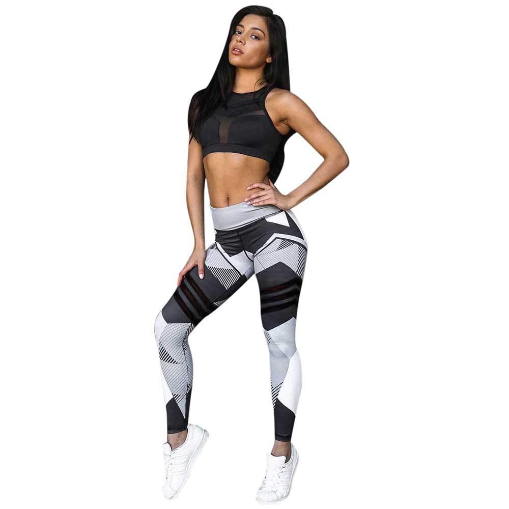 MEIbax Mujeres Deportes Gimnasio Yoga Entrenamiento Mediados de cintura Pantalones de correr Ejercicio Basic Elá stico Fitness Leggings elá sticos Ajustados Pantalones Ropa Yoga Running Gym Mallas