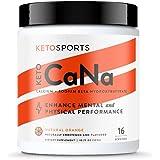 KetoSports KetoCaNa Ketone Supplement for Physical and Mental Performance, 10.75 oz, 16 Servings, Orange