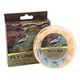 Maxcatch Trout Fly Line Weight Forward Floating 100FT Orange/Blue Fly Fishing