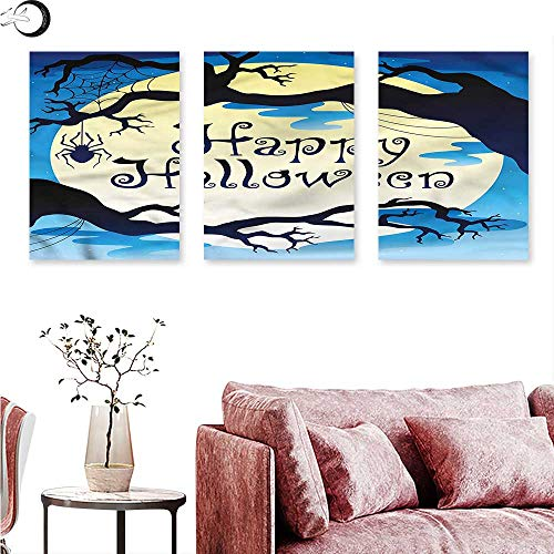 Anniutwo Halloween Wall Decoration Spooky Night with Moon Triptych Art Set W 20