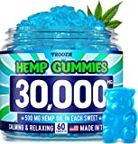 Hemp Gummies 30000 MG - 500 MG Hemp per Gummy, 60 Sweets - Made in USA - Natural Anxiety & Stress Relief - Premium Hemp & Coconut Synergy - Mood & Immunity Support - Ideal Omega 3, 6, 9 Source Larger Image