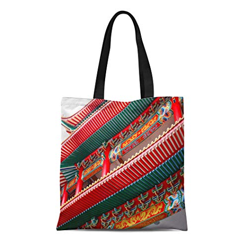 ce248addd4a7 Semtomn Canvas Tote Bag Shoulder Bags Architecture Ancient Chinese Temple  in Chiangmai Thailand Public Domain Women's Handle Shoulder Tote Shopper ...