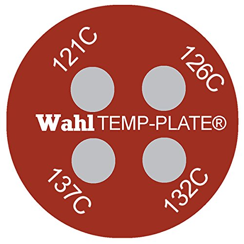 126 Wahl Instruments 442-121C Micro Round Four-Position Temp-Plate Inc. Pack of 10 121 132 and 137 degrees C