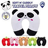 Child Travel Pillow Kids HOMEWINS Neck Support Cushion Ultra Soft Cervical Pillow Animals Neck Pain Sleep for Car Seat TGV Plane - Panda