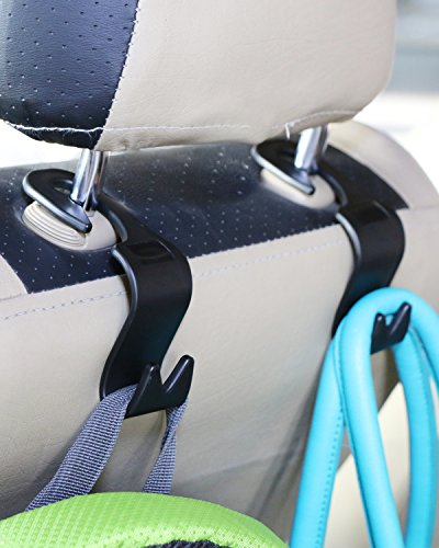 Car Seat Back Headrest Hanger – Pack of 4 Universal Car - Import It All