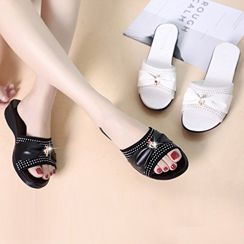 Pantofole Estate Pantofole Font Sandali Bianco Piatta Moda Wear Donna Casual Quaranta FrTFPnqx
