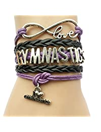 20 Colors DOLON Gymnastics Bracelet Jewelry-Gymnast Charm Wrapped Coach Team Players Fans Gift
