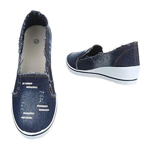 Ital-Design Women's Slippers Dunkelblau A01-1 odrqu