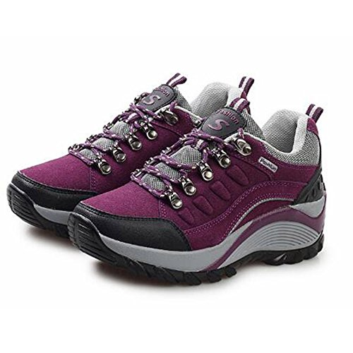 Girls Ladies Shoes Purple Sports Shoes Walking Hiking Casual Mountaineering Lightweight snfgoij Outdoor Shoes Shoes wxtdASqS