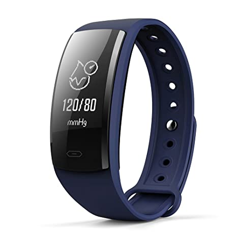 QS90 Bluetooth 4.0 Smart Watch Multiple Sports Modes Weather Remind Wristband (Deep Blue)