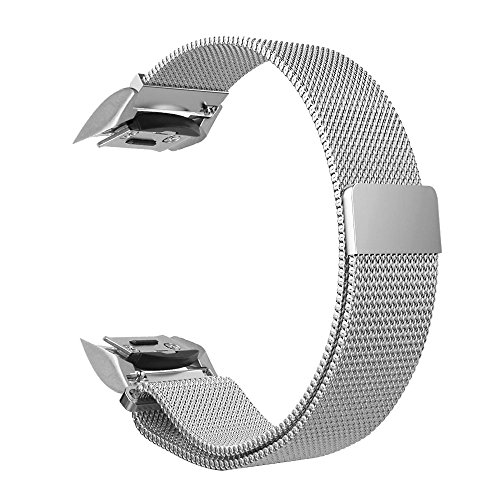 Fintie for Gear S2 Watch Band [Small], [Magnet Lock] Milanese Loop Adjustable Stainless Steel Replacement Strap Bands for Samsung Gear S2 SM-R720 / SM-R730 Smart Watch - Silver