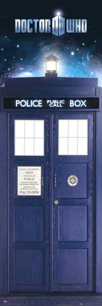 DOCTOR WHO TARDIS DOOR SIZE POSTER  53cm X 158cm
