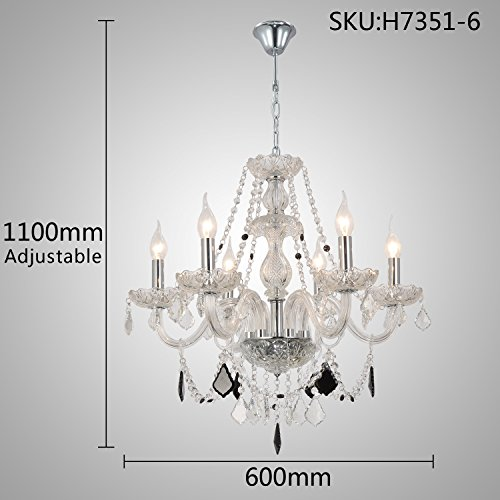 OOFAY LIGHT Upscale And Elegant Living Room Glass Crystal