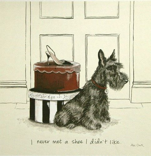 Ready to Hang Picture - Alex Clark : I Never Met a Shoe I Didn't Like 17 x 17 cm