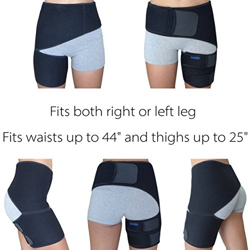 0d623af2ff Hip Brace - Groin Support Wrap for Sciatica Pain Relief Thigh Hamstring  Quadriceps Injuries Hip Arthritis