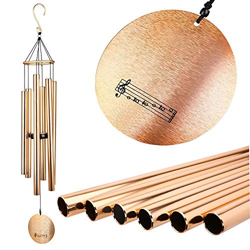 Migargle Wind Chimes Outdoor Large Deep Tone, 42'' Tuned Large Garden Outdoor Windchimes for Patio and Terrace - Best Metal Musical Windchime Outdoor and Home Decoration (Decoration Terrace)