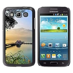 Be Good Phone Accessory // Dura Cáscara cubierta Protectora Caso Carcasa Funda de Protección para Samsung Galaxy Win I8550 I8552 Grand Quattro // Sailboat Boat Ship Lake Mountains