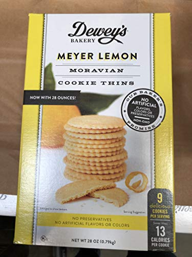Dewey's Bakery Meyer Lemon Moravian Cookie Thins 28 oz.