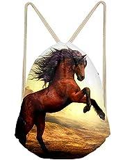 Buybai Drawstring Backpack Gym Sack Bag Teens Cool Animal 3D Print Trip Sport