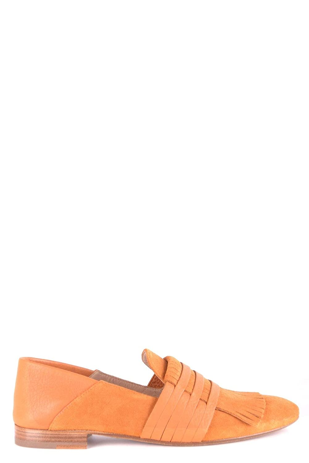 - FRATELLI ROSSETTI Women's MCBI35176 orange Suede Loafers