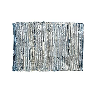C&F Home Set of 4 PCS, 13X19 Placemat, Denim Rag - Add the finishing touch to your tabletop with charming woven cotton placemats from C&F Home. Available in a variety of color options, you're sure to find exactly what you're looking for. Handcrafted Cotton - placemats, kitchen-dining-room-table-linens, kitchen-dining-room - 51SiVIvBMDL. SS400  -