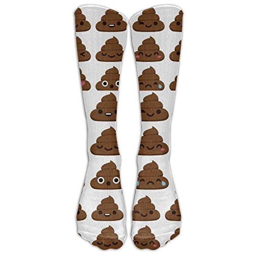 AWENGESS Creative Poop Emoji Womens Pattern Over The Knee High Socks Long Socks