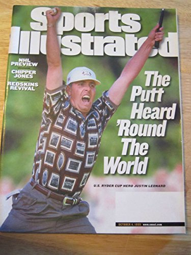 SPORTS ILLUSTRATED OCT 4, 1999 JUSTIN LEONARD U.S. RYDER CUP HERO EX (Leonard Justin Ryder Cup)