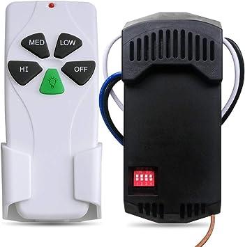 Kit de mando a distancia y receptor de ventilador de techo universal: Amazon.es: Bricolaje y herramientas