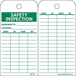 NMC RPT170 Accident Prevention Tag, \