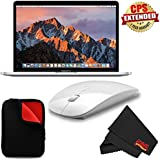 6Ave Apple 13.3 MacBook Pro (Mid 2017, Silver) MPXR2LL/A +1 YEAR EXTENDED WARRANTY + Padded Case For Macbook Bundle