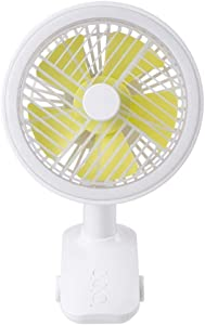 Portable Small Fan with Clip Three Speed Shaking USB Fan Night Lamp Desktop Air Cooling Rechargeable for Office Home 135135236mm