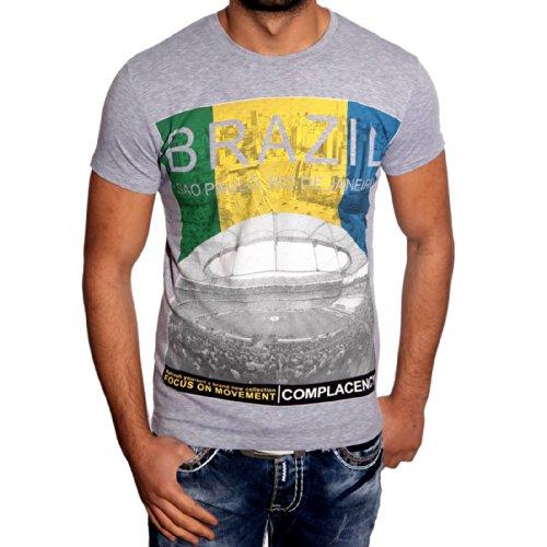 T-Shirt Poloshirt für Herren Männer Jungs Jungen A16657RN, Größe:M, Farbe:Grau