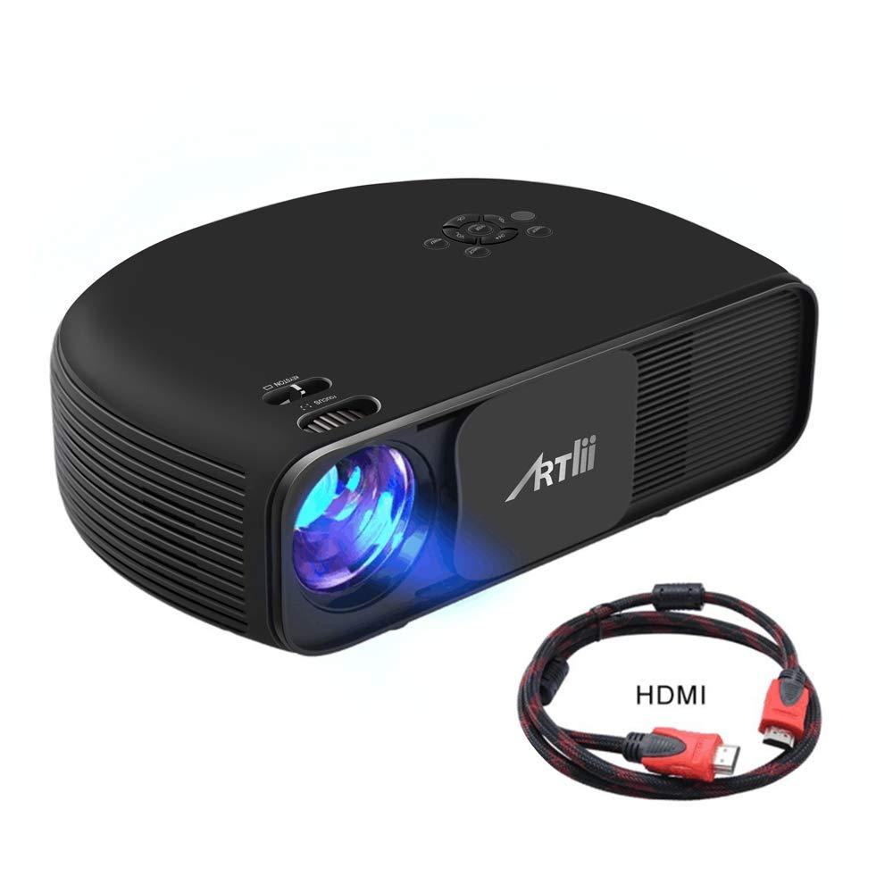 """Artlii Proyector HD Ready, 3200 Lúmenes, Consigue una Imagen de 120"""", Soporte 1080P & 2 x HDMI, para TV Stick, Tablets & Ordenador Portátil & PS4 & ..."""