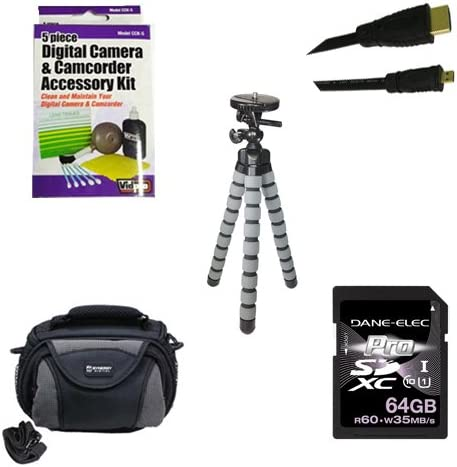 HDMI6FMC AV /& HDMI Cable SDC-26 Case ZELCKSG Care /& Cleaning GP-22 Tripod Olympus OM-D E-M10 Digital Camera Accessory Kit Includes: KSD64GB Memory Card