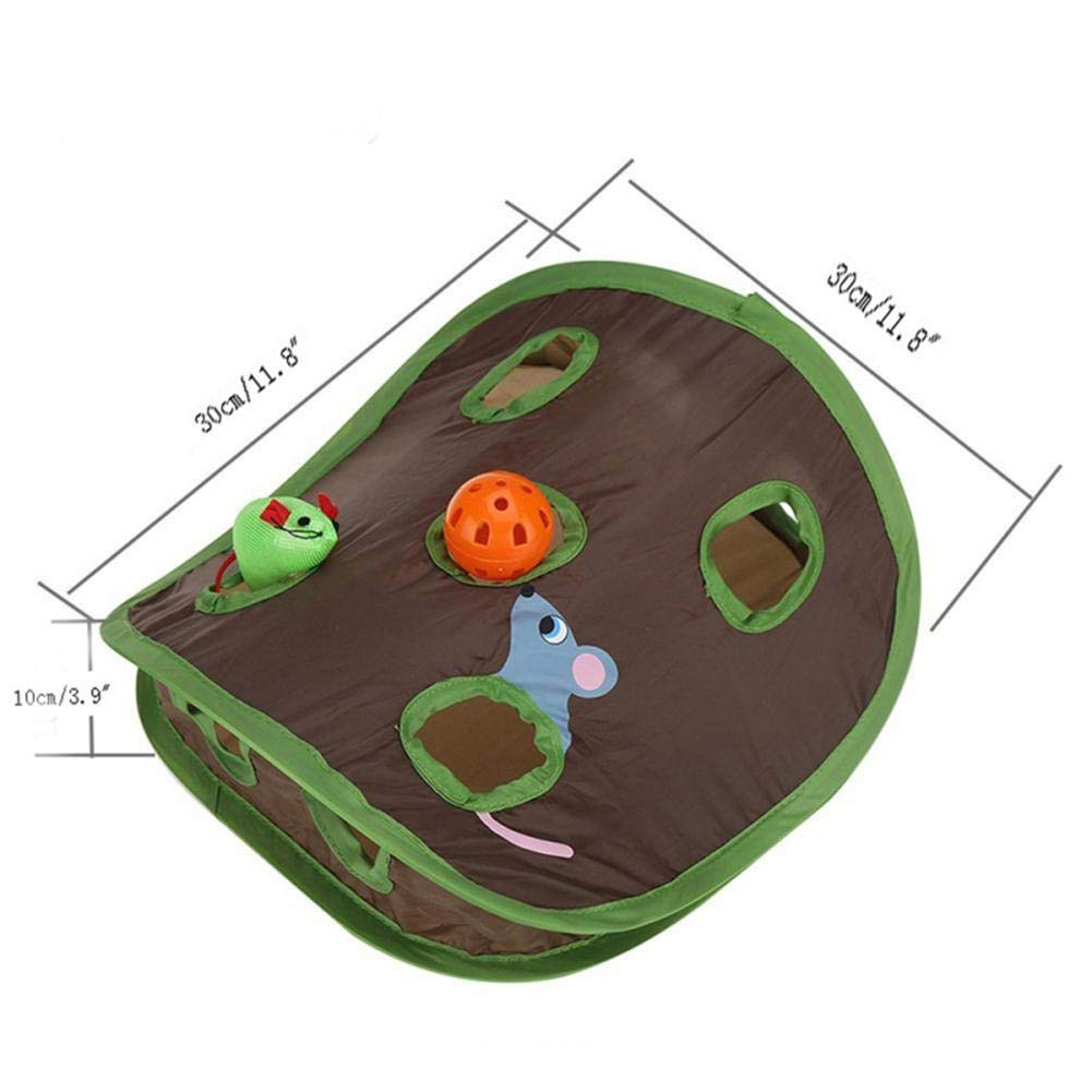 Amazon.com : Best Quality Funny Nine Mouse Holes with Audible Bell Ball Interaction Toy for Pets Cats : Pet Supplies