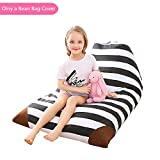 Stuffed Animal Storage Bean Bag Chair|Storage Bean Bag Sofa Solution|Create Comfy Lounger Bed for Kids and Adults|Soft Toy Organizer fits 200L