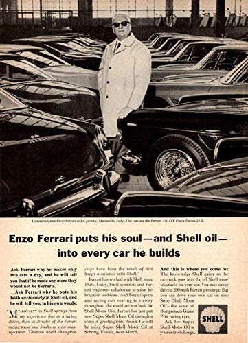 (1966 SHELL OIL SUPER SHELL & ENZO FERRARI