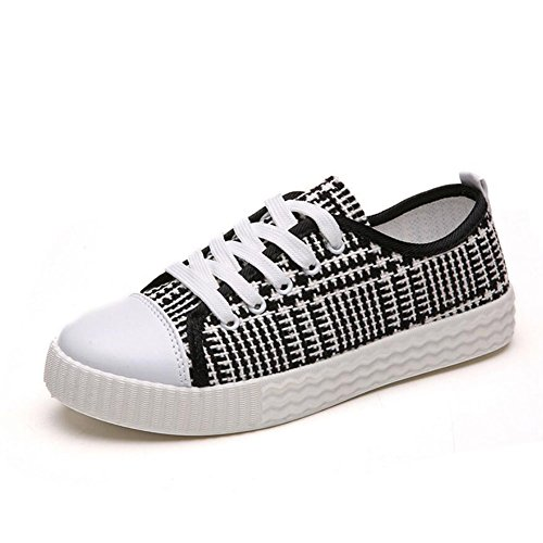 Plaid College Pink Flat Canvas Single Comfortable Shoes Black Wind Gray Shoes Shoes Breathable Casual Shoes Women's Shoes GAOLIXIA Gray qTwxRIWP0p