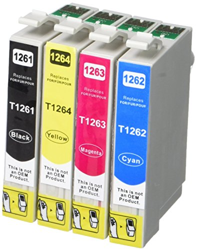 Generic Compatile Ink Cartridge SCIS for Epson 126 T1261 T1262 T1263 T1264 - 10 Pack