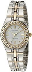 Anne Klein Women's 10-7977MPTT Swarovski Crystal Accented Two-Tone Watch