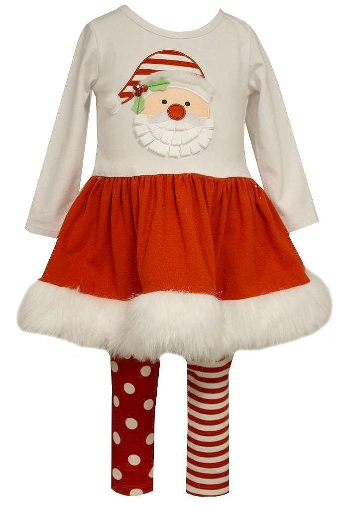 Bonnie Jean Girls Baby Christmas Santa Pettiskirt and Leggings Set