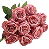 Wawer Artificial Flowers, 'Petals Feel and Look like Fresh Roses/Gypsophila/Peony Floral' Artificial Flower Bouquet Floral Arrangement, Perfect for Wedding, Bridal, Party, Home, Office Décor DIY (Multicolor-I)