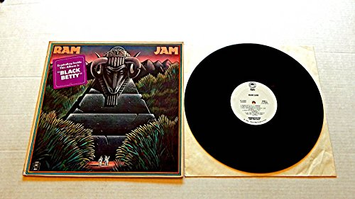 RAM JAM (Self Titled) - Epic Records 1977 - USED Vinyl LP Record - 1977 Pressing RADIO PROMO with Time Strip - Black Betty - Let It All Out - 404 - Hey Boogie Woman (Strip Out)