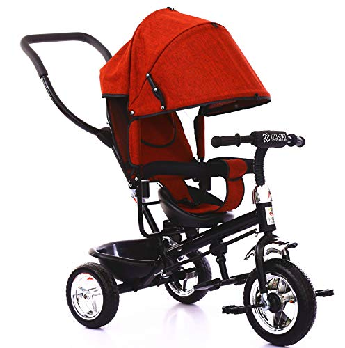 - SCJ Baby Hand Push Tricycle, Lightweight Baby Bicycle, Comfortable and Breathable, Suitable for 1-6 Years Old Children,B