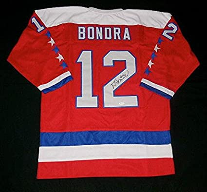 863f24d81a3 Peter Bondra Autographed Jersey - Custom W Proof Coa! - JSA ...
