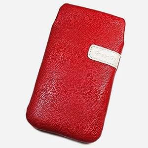 Duragadget-Funda piel sintética, talla XXL, color rojo para Samsung Galaxy Premier I9260